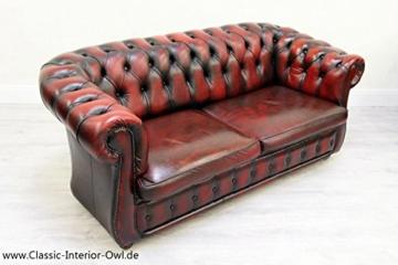Chesterfield Chippendale Sofa Leder Antik Vintage Couch ...