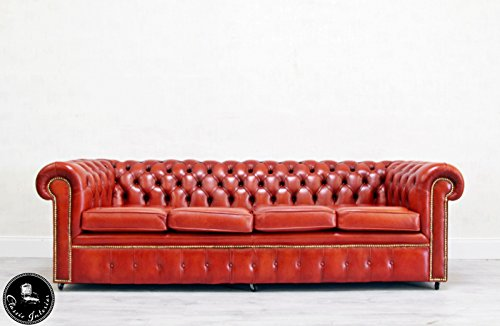 classic interior chesterfield 4er couch englisch chippendale sofa leder vintage vintage brothers. Black Bedroom Furniture Sets. Home Design Ideas