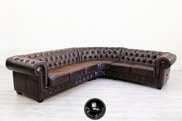 classic interior chesterfield vintage ecksofa leder sofa alt retro antik couch vintage brothers. Black Bedroom Furniture Sets. Home Design Ideas